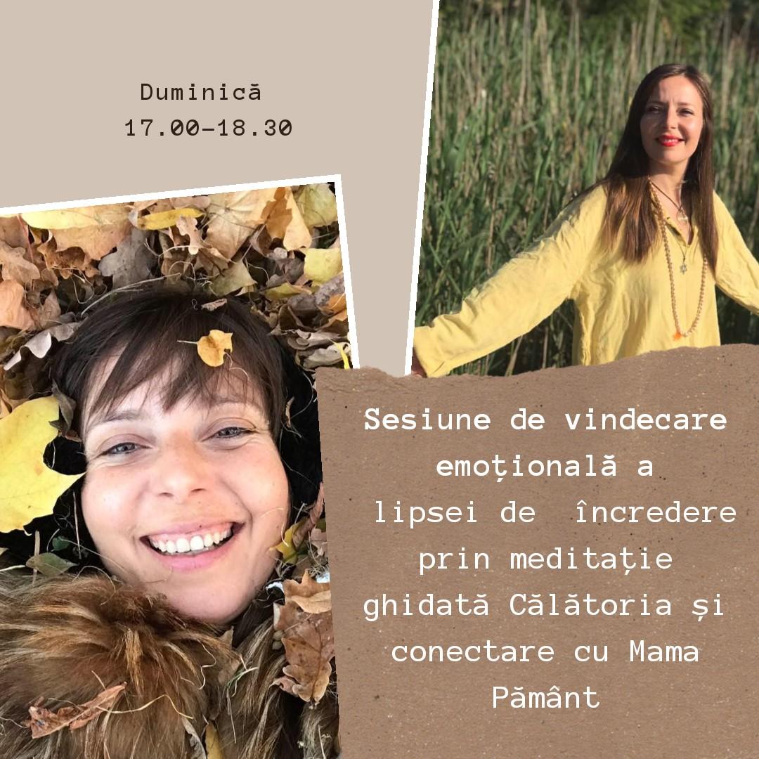Sesiune de vindecare emotionala- Lipsa increderii- prin meditatie ghidata Calatoria si conectare cu Mama Pamant